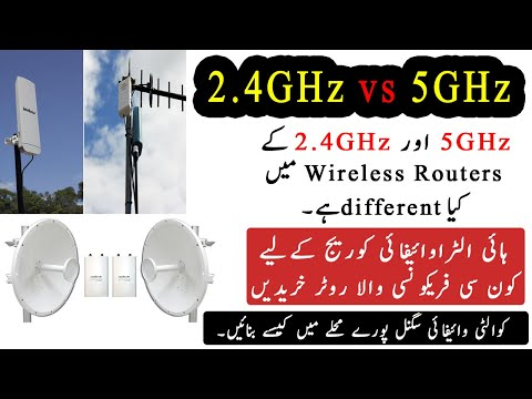Different Between  2.4GHz and 5GHz WiFi Router full explain in [Hindi/Urdu]