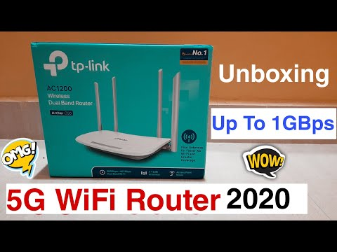 Best Dual Band Wireless Router 2020, Best 5G Wifi Router Upto 1GBps Speed, Tp-Link AC1200 UnBoxing