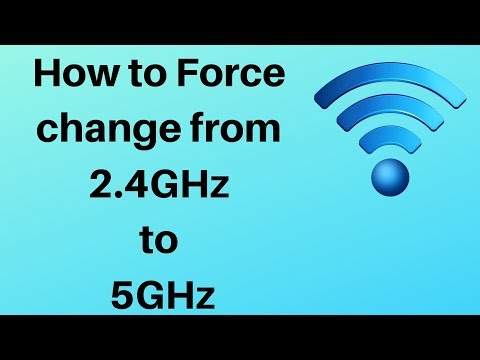 How to change from 2.4GHz to 5GHz