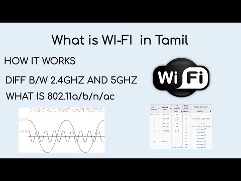 What is WI-FI in tamil? How it works? diff b/w 2.4 and 5GHZ ? 8011.11? in tamil
