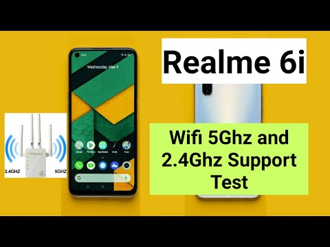 Realme 6i 5ghz and 2.4ghz Wifi support test
