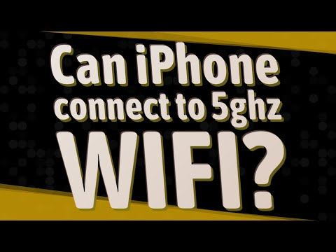 Can iPhone connect to 5ghz WIFI?