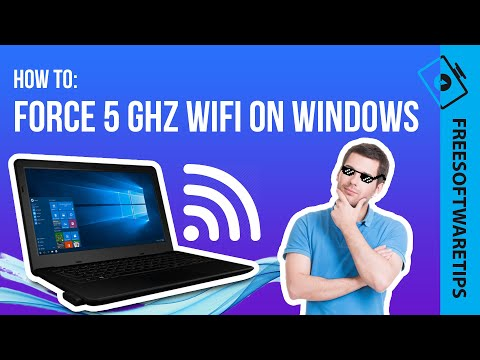 How to force 5 Ghz Wifi Network Adapter on Windows 10/8/7