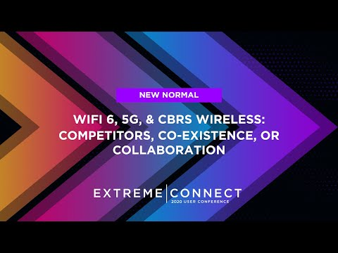 Wi-Fi 6, 5G, & CBRS Wireless:  Competitors, Co-Existence, or Collaboration?