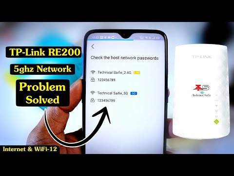 How to Connect Tp-Link RE200 WiFi Range Extender with 5g Network -Tp-Link RE200 5ghz network problem