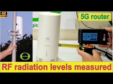 How much RF radiation does a 5G router transmit? – Informally tested -indoor and outdoor