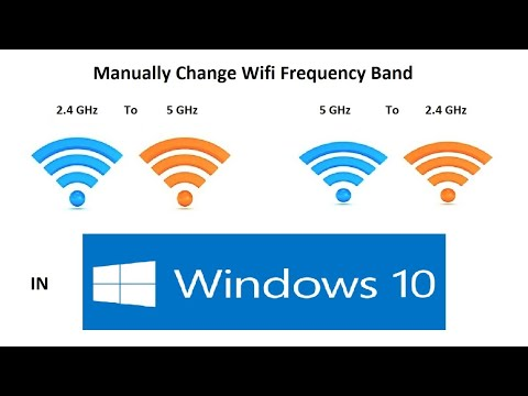 How to change wifi band from 2.4 GHz to 5 GHz or 5 GHz to 2.4 GHz manually in Windows 10.
