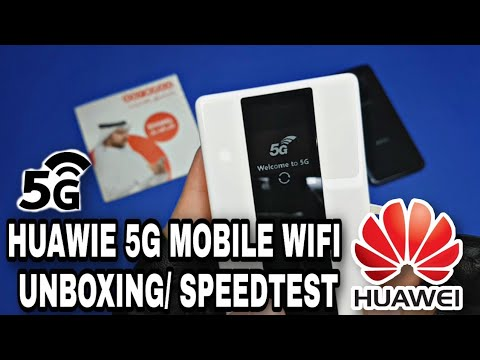HUAWEI 5G MOBILE WIFI UNBOXING and SPEEDTEST